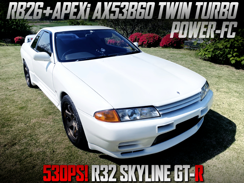 APEXi AX53B60 TWIN TURBOCHARGED R32 GT-R WHITE.