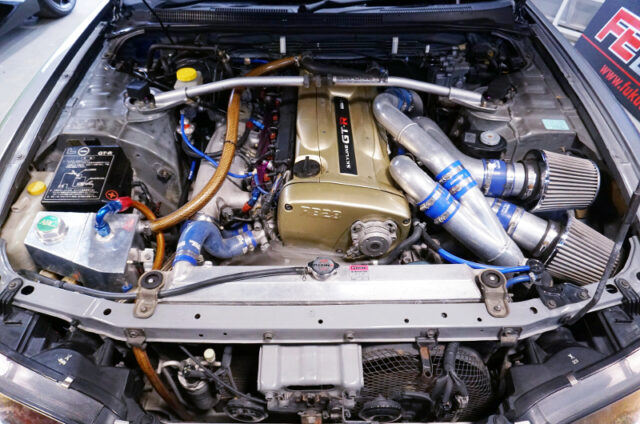 RB26 with HKS 2.8L KIT and GT-SS TWIN TURBO.