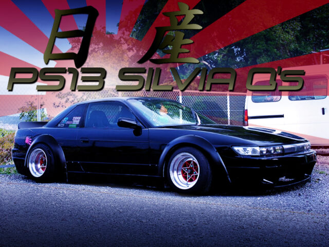 ROCKET BUNNY Ver.1 BODY KIT and WIDE FLARES OF S13 SILVIA Qs.