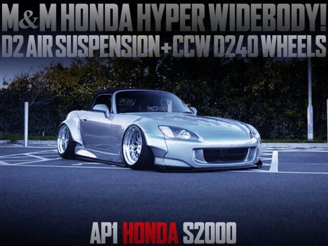M and M HONDA WIDEBODY INSTALLED of AP1 S2000 SILVER.