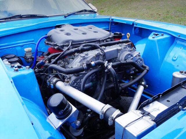VQ35DE V6 ENGINE INTO S30Z ENGINE ROOM.
