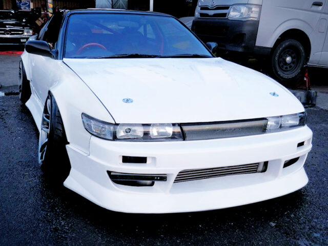 FRONT EXTERIOR OF 180SX with SILEIGHTY CONVERSION.