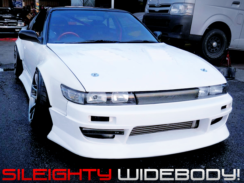 S13 FRONT END and WIDEBODY CONVERSION of 180SX TYPE-3.