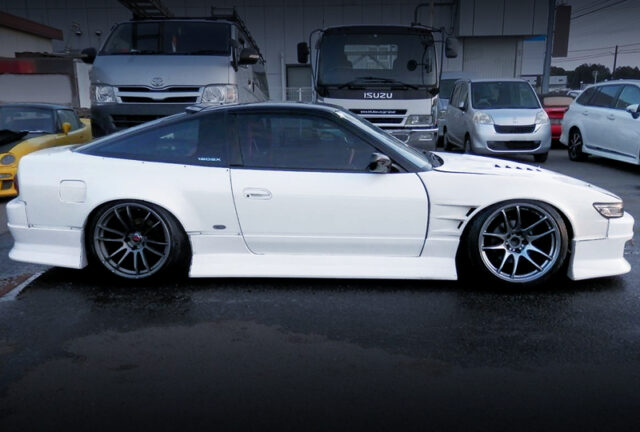SIDE EXTERIOR OF 180SX with SILEIGHTY CONVERSION.