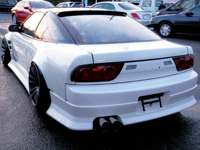 REAR EXTERIOR OF 180SX with SILEIGHTY CONVERSION.