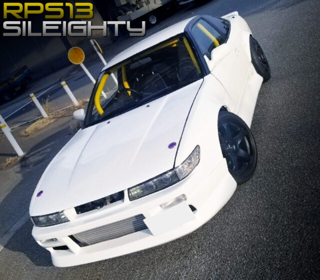 S13 SILVIA FRONT END and WIDEBODY KIT INSTALLED RPS13 180SX.