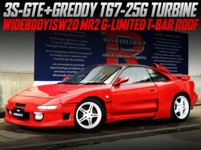 3S-GTE swap With T67-25G turbo INTO SW20 MR2 G-LTD T-BAR ROOF WIDEBODY.