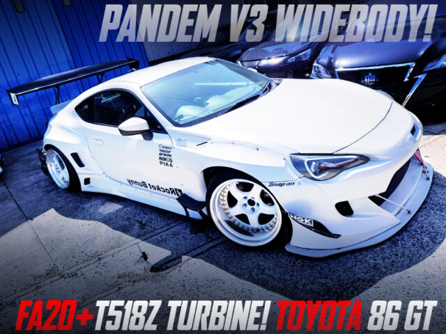 FA20 TURBO and PANDEM V3 WIDEBODY MODIFIED TOYOTA 86 GT WHITE.