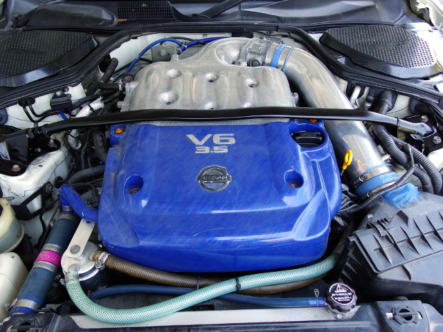 VQ35DE V6 ENGINE with HKS HIGH COMP PISTONS and RODS.