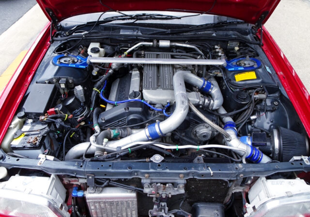 VG30DET TURBO ENGINE with R33 ZENKI METAL TURBO.