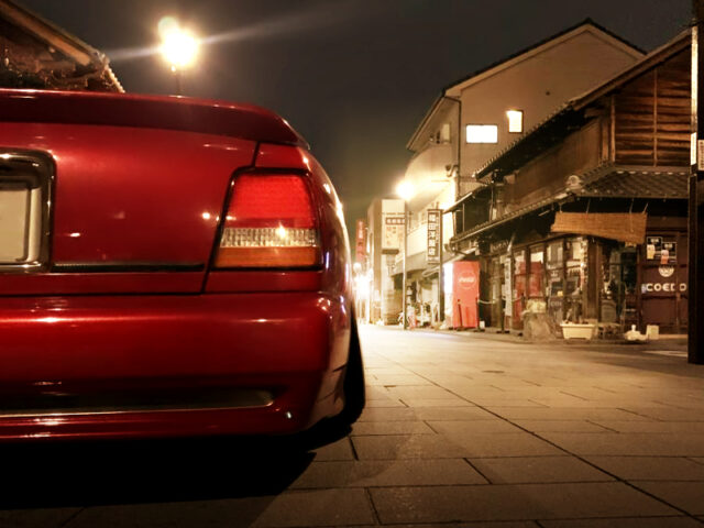 BACK TAIL LIGHT OF Y32 NISSAN CIMA with RED PAINT.