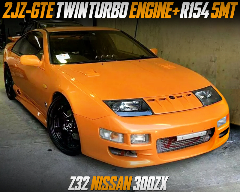 2JZ-GTE TWINTURBO ENGINE and R154 5MT SWAPPED Z32 NISSAN 300ZX.