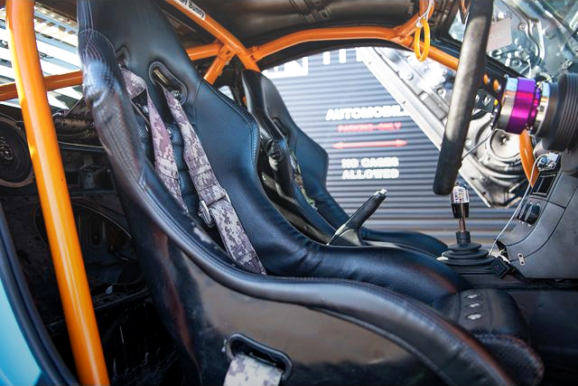 BUCKET SEAT and ROLL CAGE.