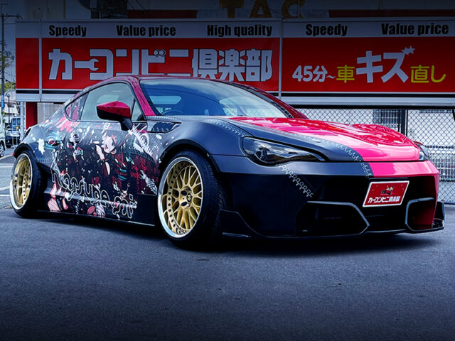 FRONT EXTERIOR OF TOYOTA 86 GT WIDEBODY.
