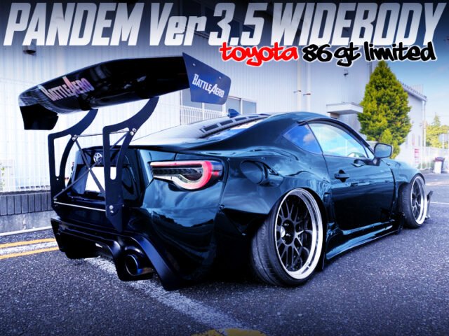 PANDEM WIDEBODY and BATTLE AERO GT-WING installed ZN6 TOYOTA 86GT LIMITED.