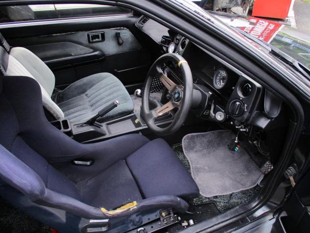 INTERIOR OF AE86 TRUENO HATCH GT-APEX.