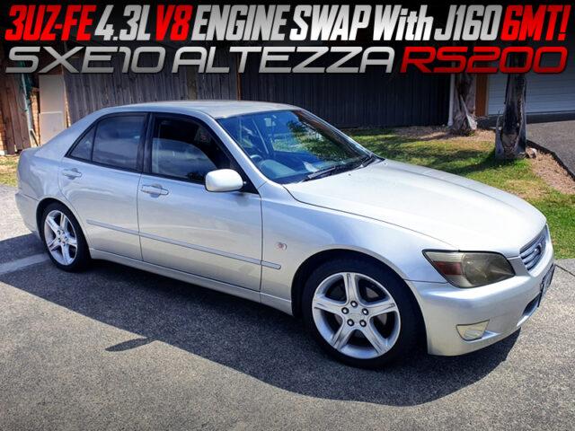 3UZ-FE 4.3L V8 ENGINE SWAPPED ALTEZZA RS200.