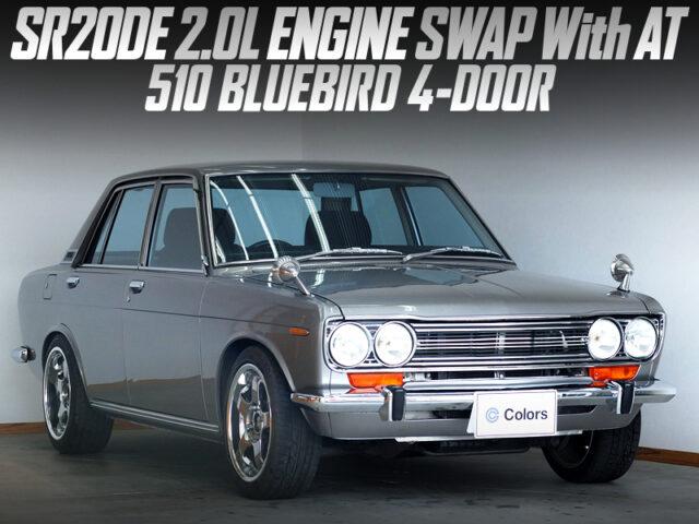 SR20DE ENGINE and AUTOMATIC SWAPPED 3rd Gen 510 BLUEBIRD 4-DOOR.