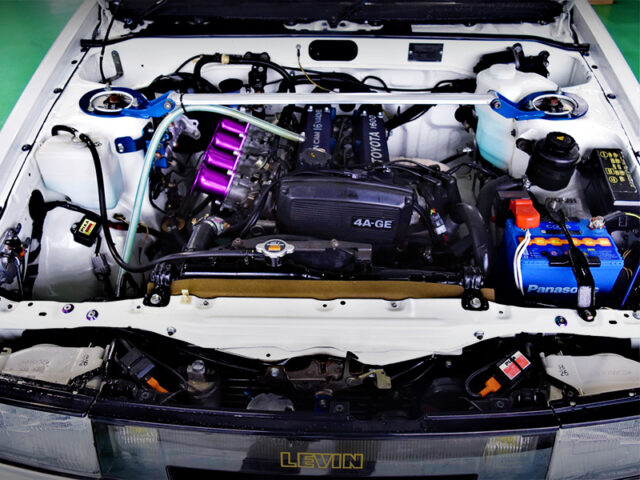 16V 4AG with INDIVIDUAL THROTTLE BODIES.