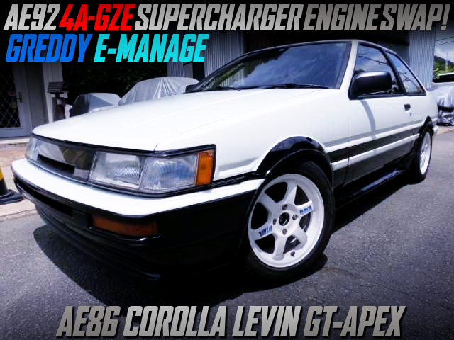 4AGZE SUPERCHARGER ENGINE SWAPPED AE86 LEVIN GT-APEX.