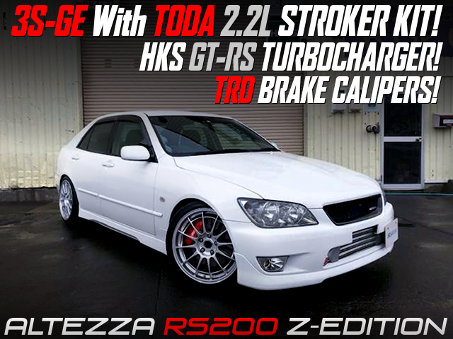 3S-GE with TODA 2.2L KIT and GT-RS TURBO into ALTEZZA RS200 Z-EDITION WHITE.