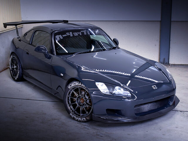 FRONT EXTERIOR OF AP1 S2000 TRACK STANCE.