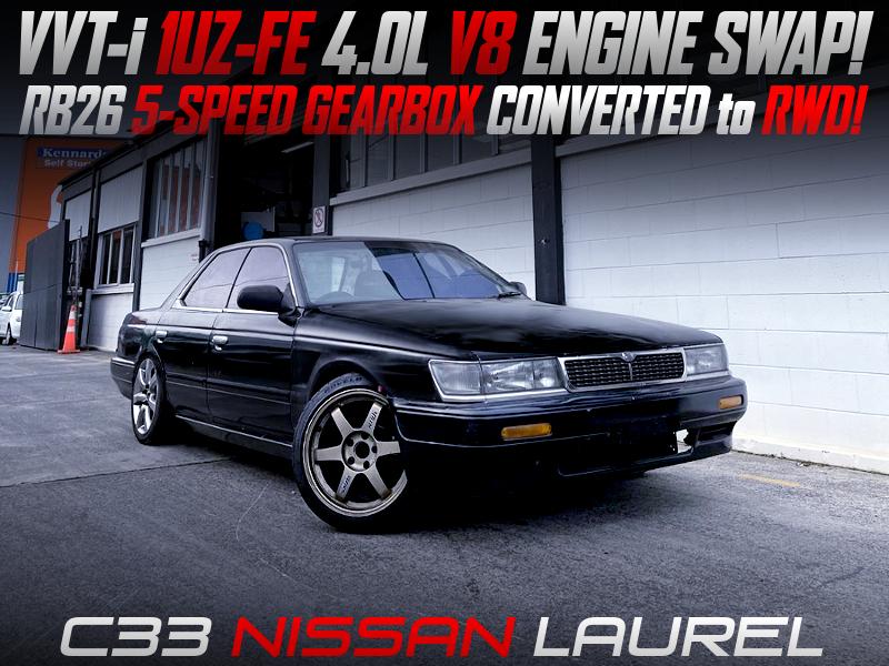 1UZ-FE V8 and RB26 5MT INSTALLED C33 LAUREL.