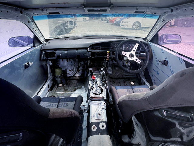 DASHBOARD OF C33 LAUREL DRIFT CAR.