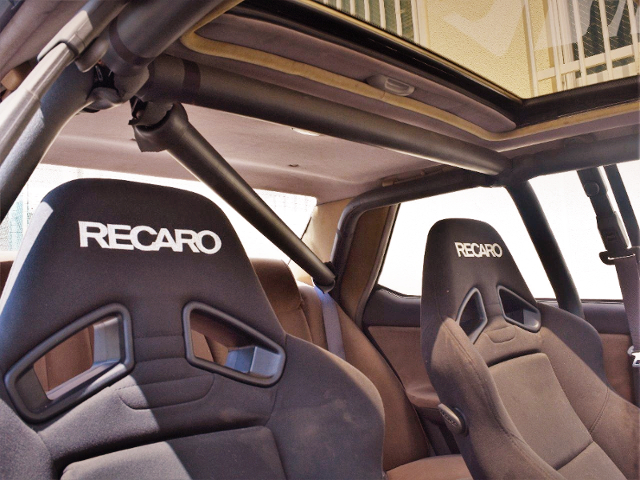 RECARO SEATS and ROLL BAR.