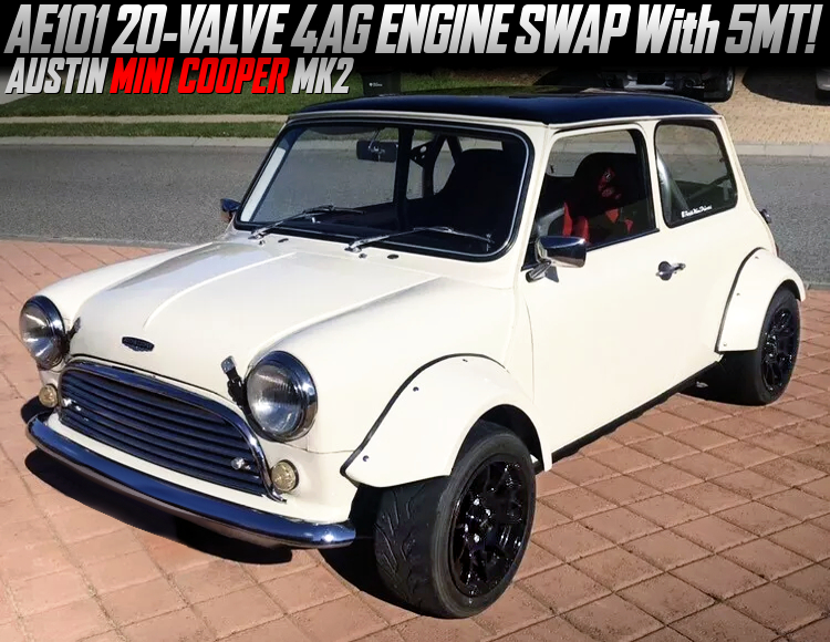 AE101 20V 4AGE and TOYOTA C56 5MT SWAPPED CLASSIC MINI COOPER.