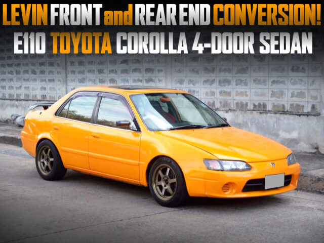 E110 COROLLA SEDAN with LEVIN FRONT and REAR END CONVERSION.