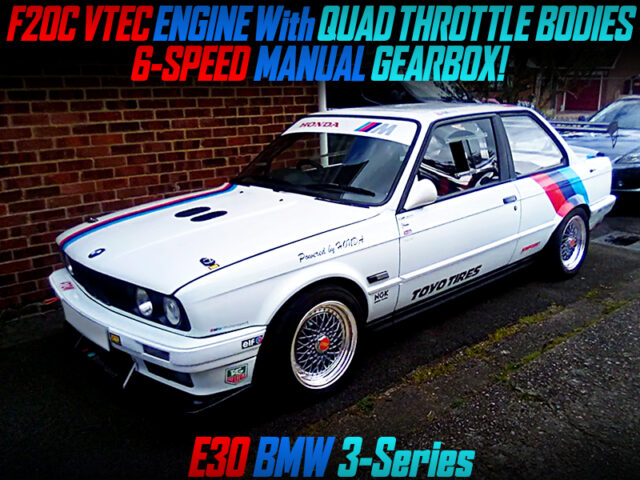 F20C VTEC SWAP with ITBs into E30 BMW 3-SERIES.