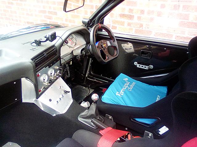 INTERIOR of E30 BMW 3-SERIES.