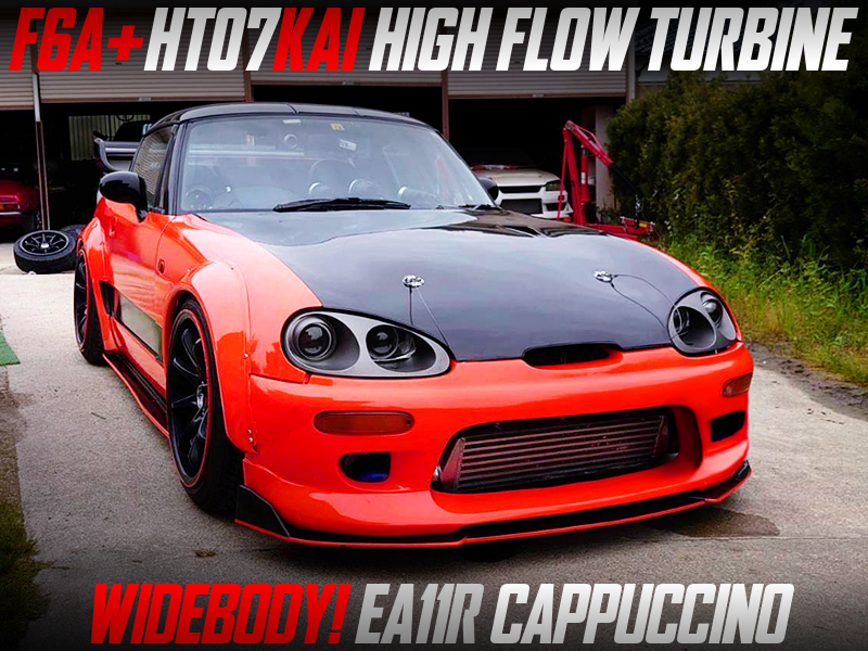 WIDEBODY and HT07 HIGH FLOW TURBO MODIFIED EA11R CAPPUCCINO.