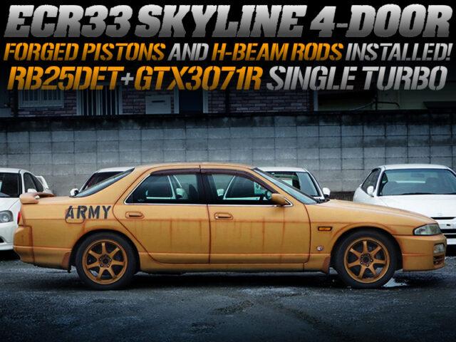 RB25DET with GTX3071R TURBO and LINK ECU MODIFIED ECR33 SKYLINE 4-DOOR.