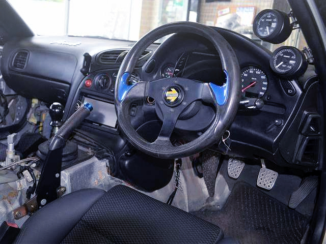 DASHBOARD OF FD3S RX-7 TYPE-R BATHURST.