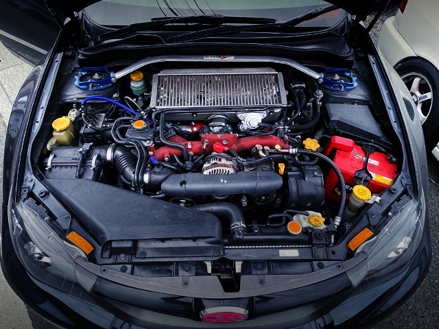 EJ207 BOXER TURBO ENGINE with HKS GT3-RS TURBOCHARGER.