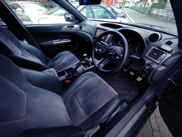 DRIVER'S DASHBOARD OF GRB IMPREZA HATCHBACK WRX STI.