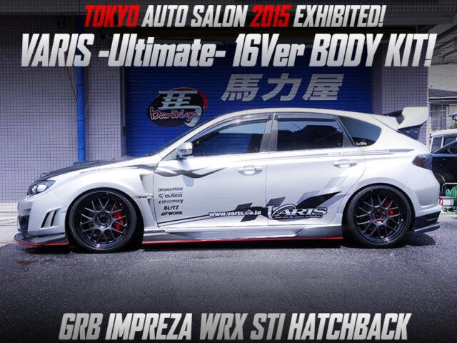 GRB IMPREZA WRX STI HATCHBACK with VARIS Ultimate 16Ver BODY KIT.