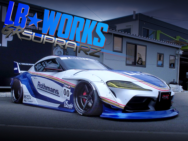 LB-WORKS WIDEBODY and Rothmans LIVERY MODIFIED GR SUPRA RZ.