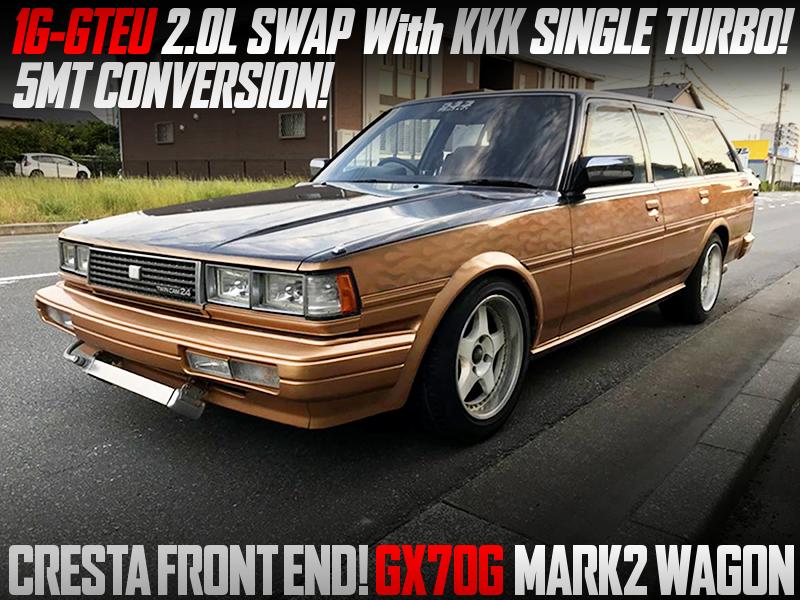 1G-GTEU 2.0L ENGINE SWAP WITH KKK SINGLE TURBO MODIFIED GX70G MARK2 WAGON.