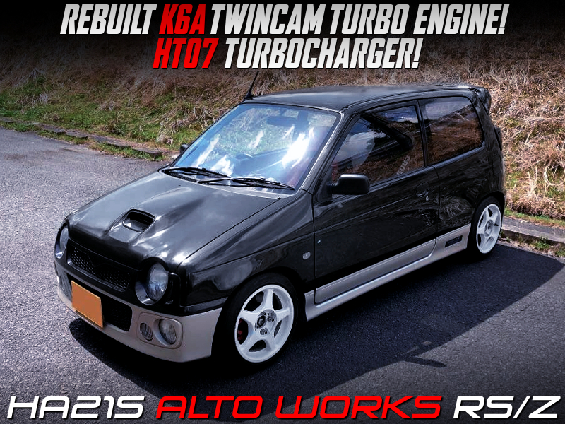 K6A ENGINE REBUILT with HT07 TURBO INSTALLED into HA21S ALTO WORKS RSZ.