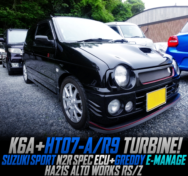 K6A with HT07 TURBO into HA21S ALTO WORKS RSZ BLACK.