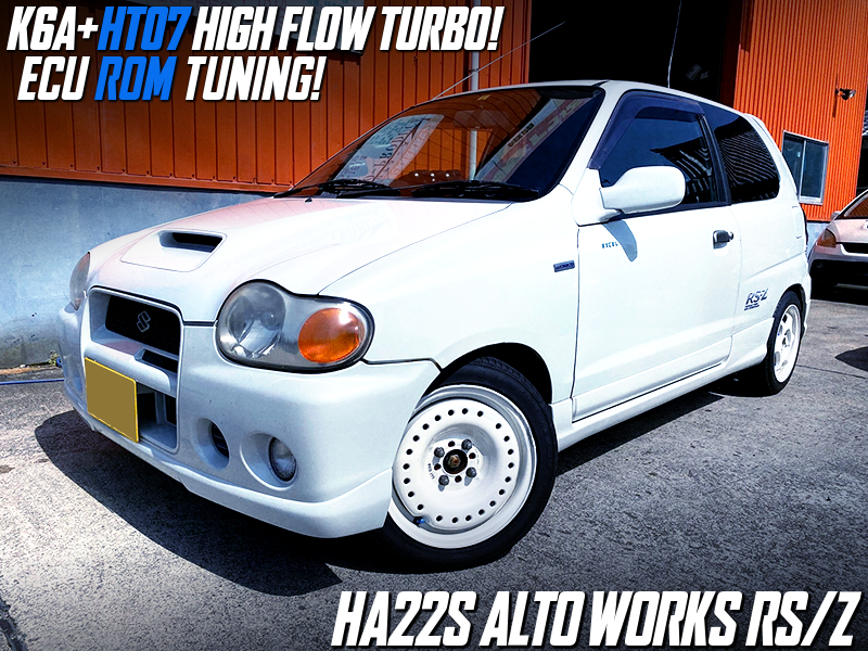 K6A with HT07 HIGH FLOW TURBO OF HA22S ALTO WORKS RSZ WHITE.