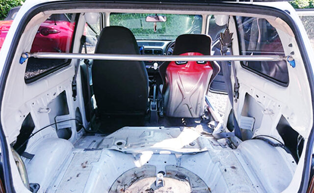LUGGAGE SPACE OF HB21S ALTO WORKS RSZ.