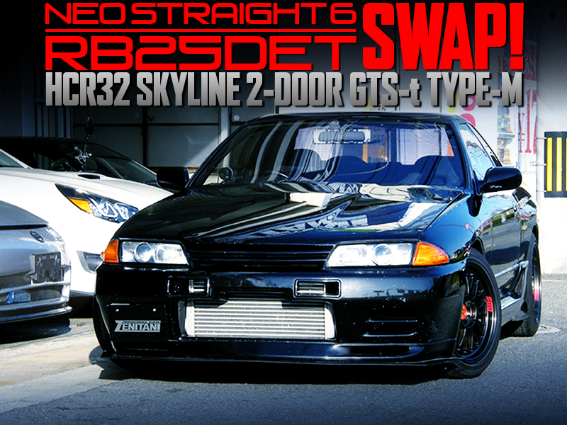 NEO 6 RB25DET TURBO SWAPPED HCR32 SKYLINE 2-DOOR BLACK.