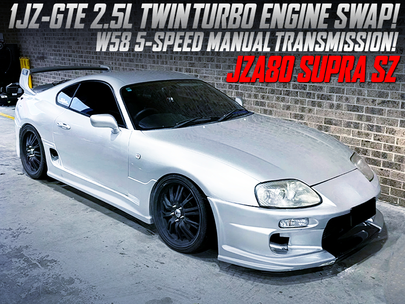1JZ-GTE TWIN TURBO and R154 5MT SWAPPED JZA80 SUPRA SZ.