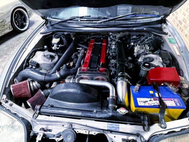 1JZ-GTE 2.5L TWIN TURBO ENGINE.
