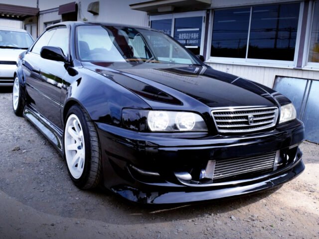 FRONT EXTERIOR OF JZX100 CHASER WIDEBODY.