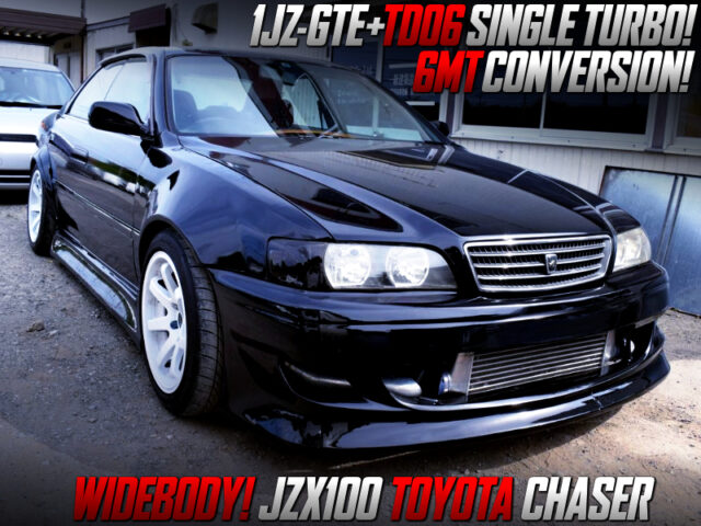1JZ-GTE SWAP With TD06 TURBO and 6MT MODIFIED JZX100 CHASER WIDEBODY.